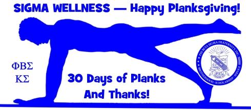 30 Day Planksgiving Challenge